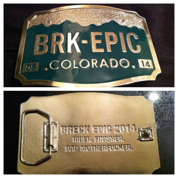 Finisher's buckle